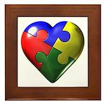 Puzzle Heart Framed Tile