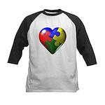 Puzzle Heart Kids Baseball Jersey