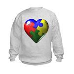 Puzzle Heart Kids Sweatshirt