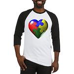 Puzzle Heart Baseball Jersey