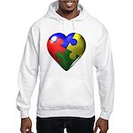 Puzzle Heart Hooded Sweatshirt