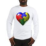 Puzzle Heart Long Sleeve T-Shirt