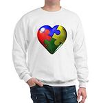 Puzzle Heart Sweatshirt
