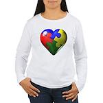 Puzzle Heart Women's Long Sleeve T-Shirt