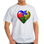 Puzzle Heart Ash Grey T-Shirt