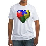 Puzzle Heart Fitted T-Shirt