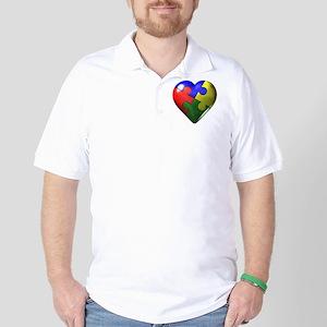 Puzzle Heart Golf Shirt