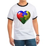 Puzzle Heart Ringer T