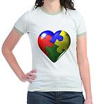 Puzzle Heart Jr. Ringer T-Shirt