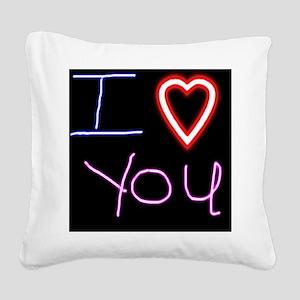 16x20_iloveyouonmonday Square Canvas Pillow
