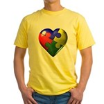 Puzzle Heart Yellow T-Shirt