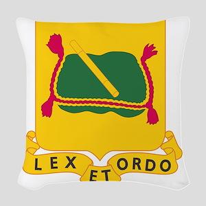 716th Military Police Battalio Woven Throw Pillow