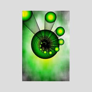 Green Shot Rectangle Magnet