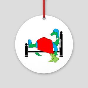dinosnore dk Round Ornament