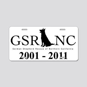 Germ-Shep-Black Aluminum License Plate