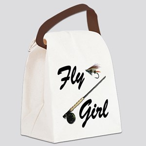 fly girl thong front Canvas Lunch Bag