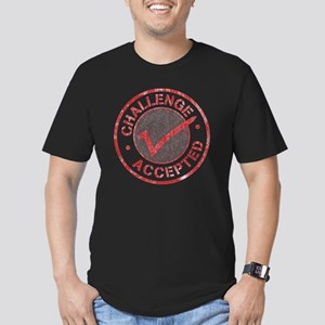 Challenge-Accepted-Rou Men's Fitted T-Shirt (dark)