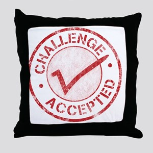 Challenge-Accepted-Round Throw Pillow