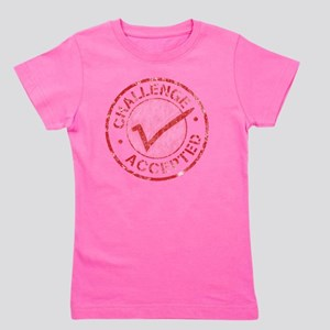 Challenge-Accepted-Round Girl's Tee