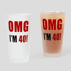 omg40 Drinking Glass