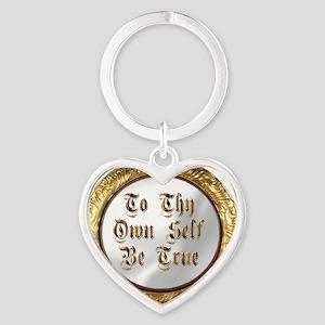 be true Heart Keychain