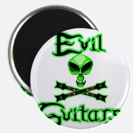 AlienSkull-Green Revised Back Magnet