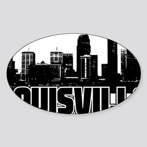 Louisville Skyline Sticker (Oval)
