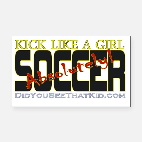 KickLikeAGirl_AbsolutelySocce Rectangle Car Magnet