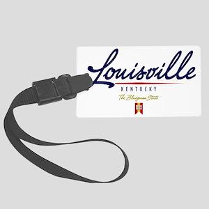 Louisville Script W Large Luggage Tag