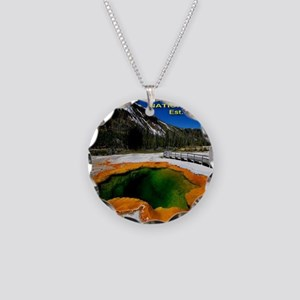 Yellowstone_NP_EST1872 Necklace Circle Charm