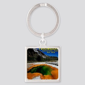 Yellowstone_NP_EST1872 Square Keychain