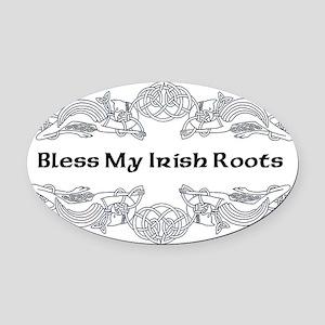 My Irish Roots Oval Car Magnet
