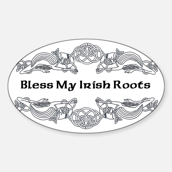 My Irish Roots Sticker (Oval)