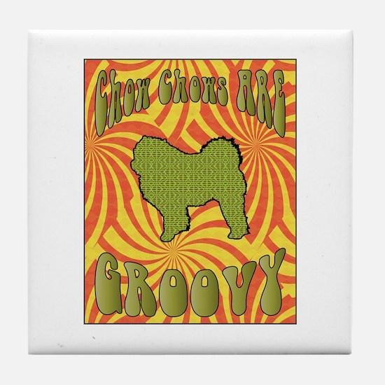Groovy Chow Tile Coaster
