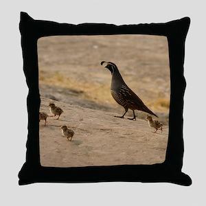 quailfamilycalendar Throw Pillow