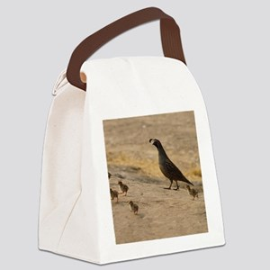 quailfamilycalendar Canvas Lunch Bag