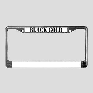 Black Gold License Plate Frame