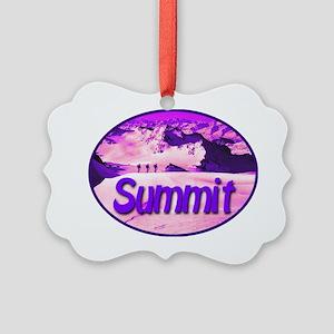 summit_transparent_deepviolet Picture Ornament