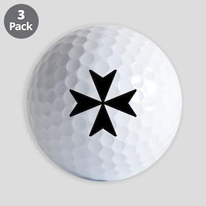 Maltese Cross Symbol Golf Balls