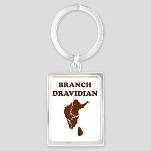 branch dravidian brown Portrait Keychain