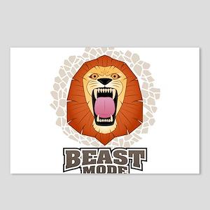 Lion Beast Mode MMA Cross Fit Crossfit Gym Postcar