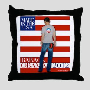 2nd corrected BarackTshirt copy Throw Pillow