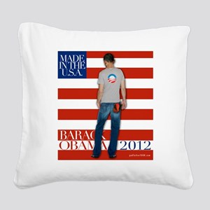 2nd corrected BarackTshirt co Square Canvas Pillow