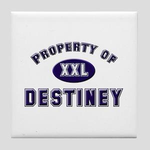 Property of destiney Tile Coaster