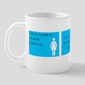Womens bathrooms Mug