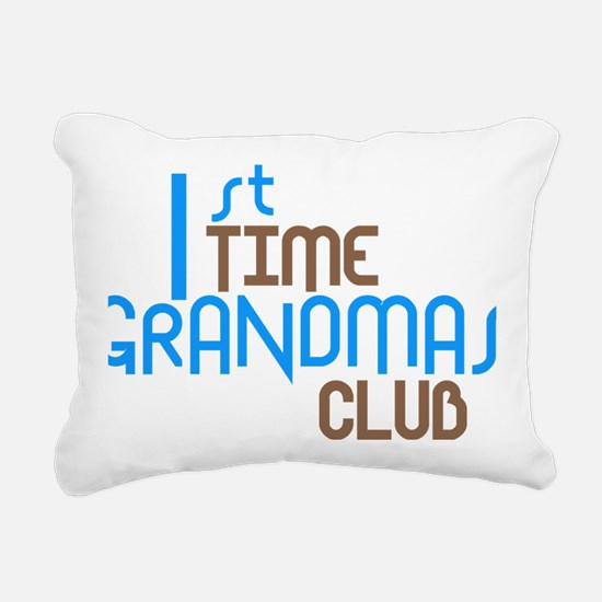 1sttimegrandmasclubbloue Rectangular Canvas Pillow