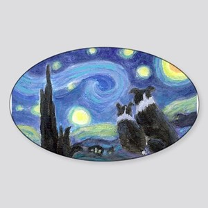 Starry Night Border Collie Sticker