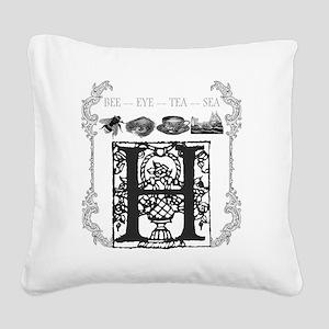 T-Shirt_BITCH_02 Square Canvas Pillow