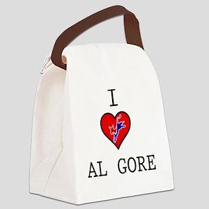 I-LOVE-AL-GORE Canvas Lunch Bag