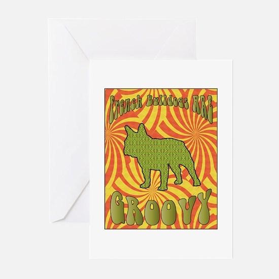 Groovy Bulldog Greeting Cards (Pk of 10)